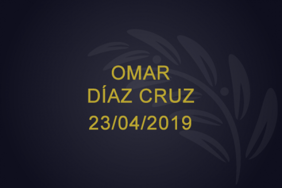 Omar Díaz Cruz – 23/04/2019